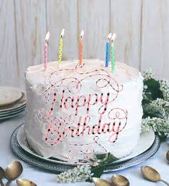 Burning pink birthday candle greetings delicious happy birthday