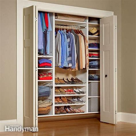 Easy To Install Closet Organizers Build Your Own Melamine Closet Organizer Family Handyman