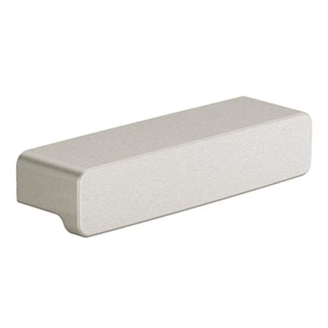 moen 90 degree drawer pull in brushed nickel yb8807bn