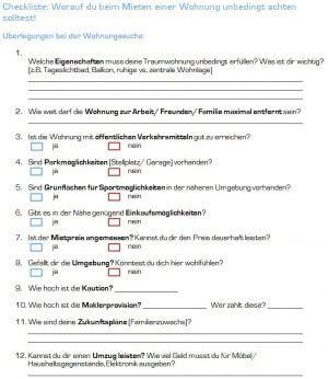 checkliste umzug wohnung checkliste wohnung mieten was beachten