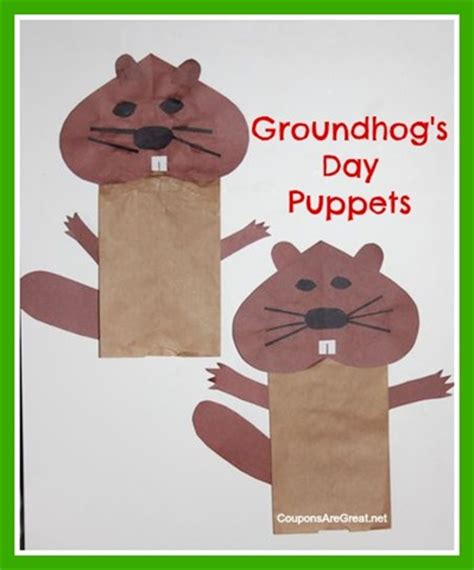 groundhog crafts for 12 groundhog day crafts