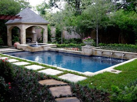 Triyae Com Backyard Pool Landscape Design Ideas Pool Garden Design