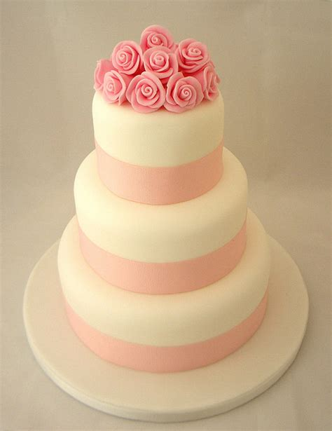 Pink Flower Wedding Cake by Cake Flower Cake Flowers Food Pink Wedding Cake