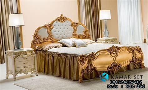 Set Kamar Eklusif 55 model set tempat tidur gold ukir klasik mewah terbaru