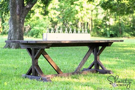 shanty 2 chic farmhouse table 53 free diy farmhouse table plans for a rustic dinning room