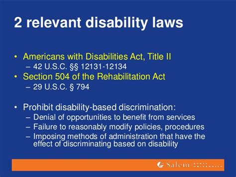 americans with disabilities act section 504 training on quot disability competence quot for child welfare workers