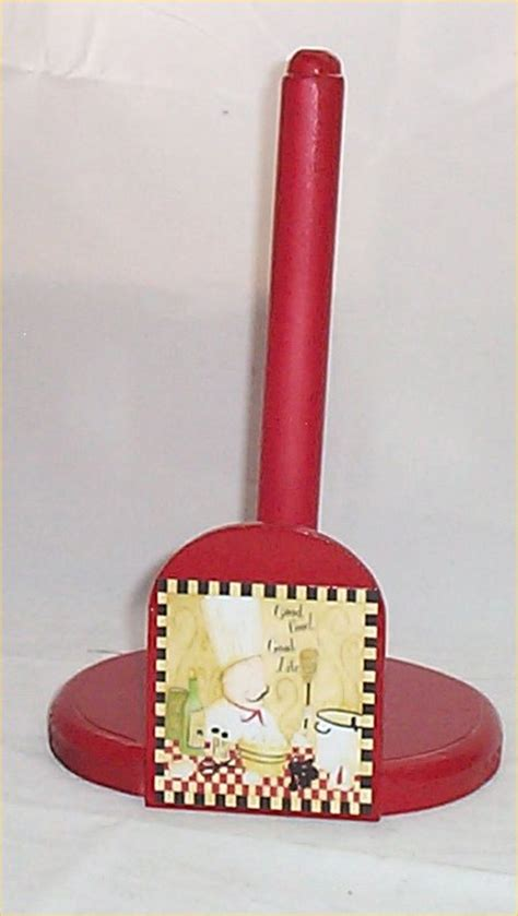 fat chef red wood wall shelf waiter bistro home decor ebay fat chef paper towel holder wood bistro decor red 2 chef