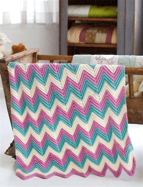 written zig zag crochet pattern yarnspirations com caron zig zag baby blanket patterns