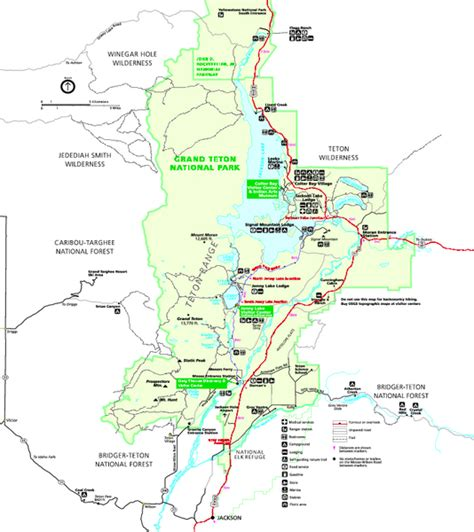 grand teton national park map grand teton national park map summer grand teton