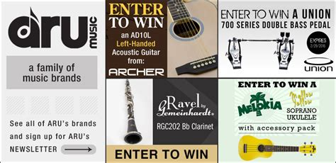 Musical Instrument Giveaways And Contests - musical instrument product giveaways announced from aru music a division of cascio