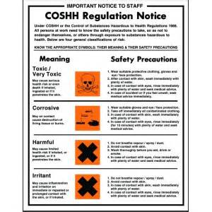 coshh regulation notice poster 35x27cm stephensons