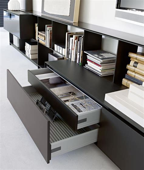open sectional bookcase flat c by b b italia design