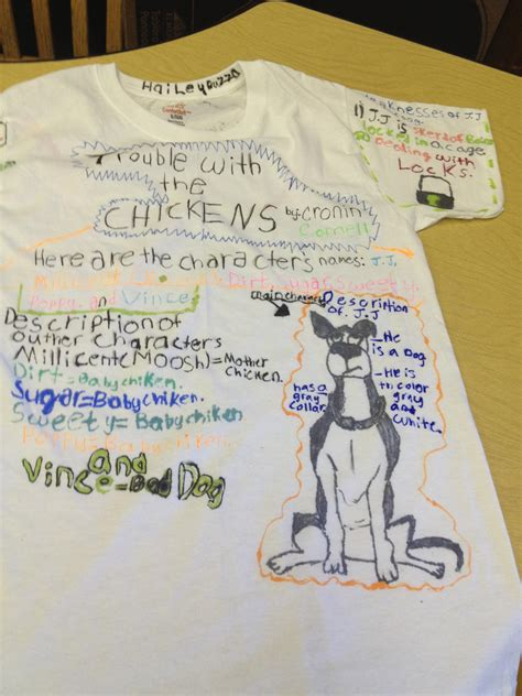 t shirt book report ideas book reports projects on shirts
