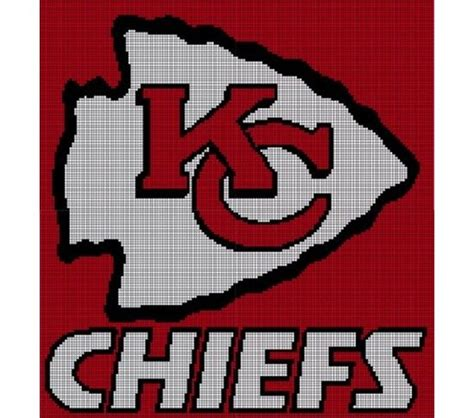 Crochet Pattern Kansas City Chiefs Afghan | kansas city chiefs pattern afghan graph crochet patterns