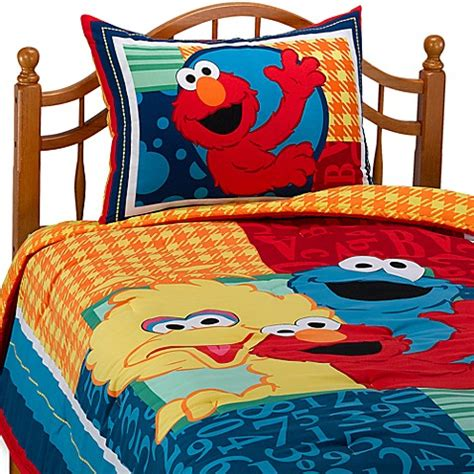 sesame street twin comforter set bed bath beyond