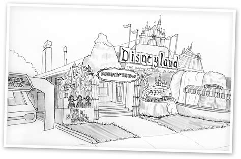 Coloring Page Disneyland | disneyland coloring pages to download and print for free