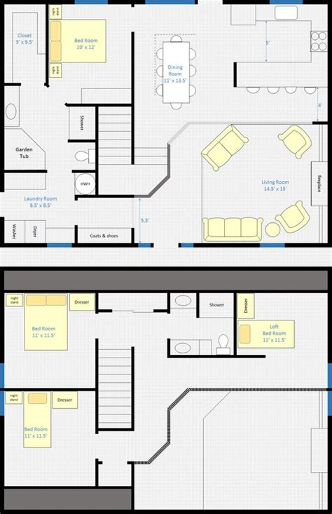 30 X 40 4 Bedroom 2 Bathroom Rectangle Barn House With 4 Bedroom House With Loft House Plans