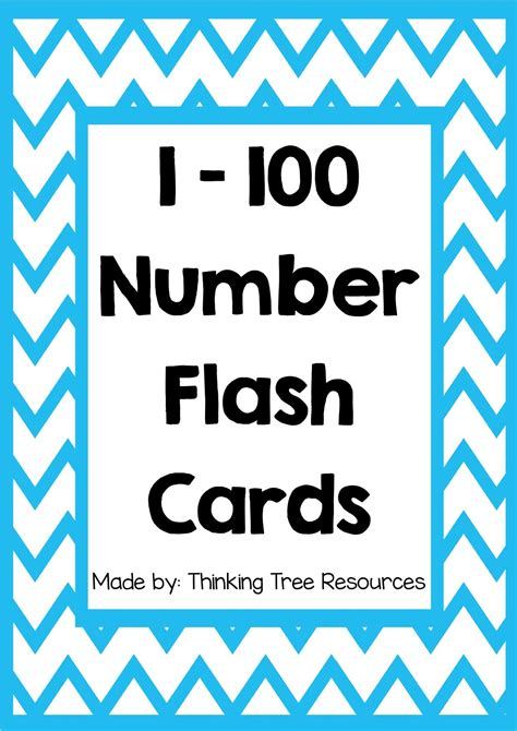 Large Printable Number Cards 1 100