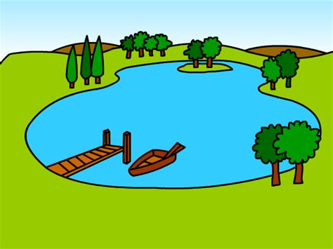 lake drawing gallery - How To Draw A Boat On A Lake