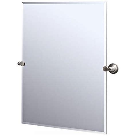 gatco bathroom mirrors rectangular tilt mirror tilting gatco tiara satin nickel finish rectangular tilt wall