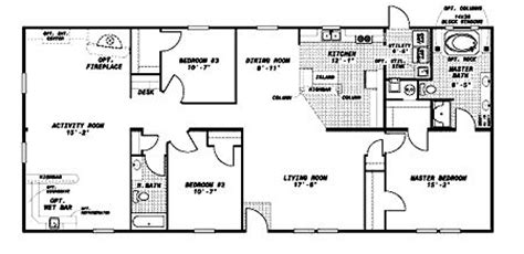 norris leconte series norris mobile homes floor plans