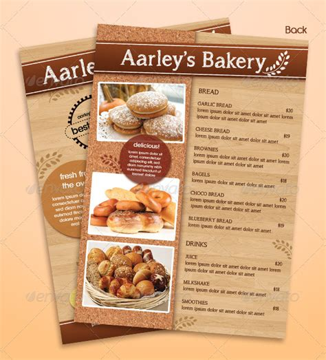 free bakery flyer templates 20 bakery menu flyer free premium psd png vector ai