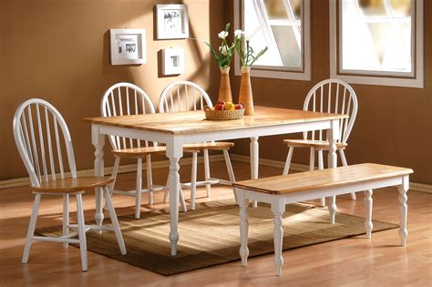 natural wood dining room sets country dining room set dinettes dining room furniture 6pc