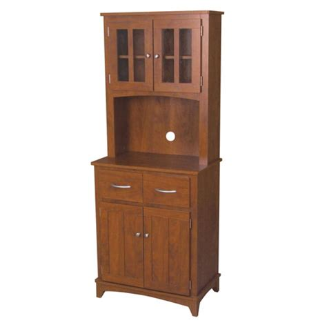 oak microwave stand with hutch oak tall microwave cabinet home source industries serving