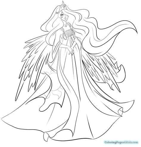 My Little Pony Coloring Pages Princess Celestia And My Pony Coloring Pages Princess Celestia Printable