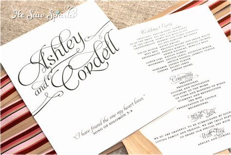 diy wedding program fans template 7 wedding program fans template free oorte templatesz234