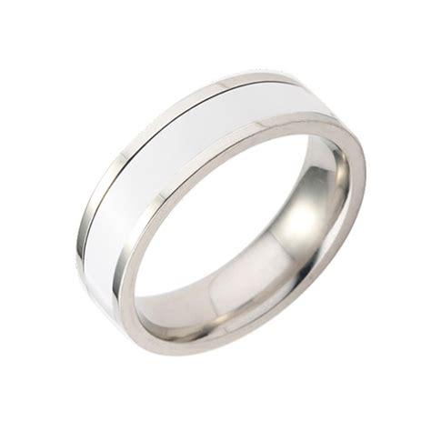 gold black silver brushed tungsten enamel ring wedding