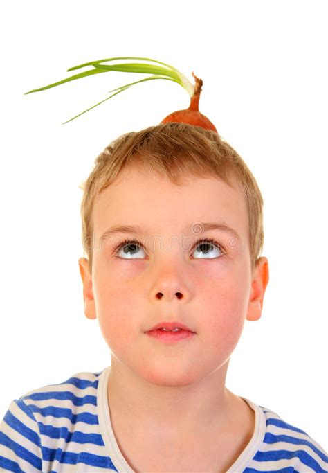 boy onion boy with the onion bulb royalty free stock photos image