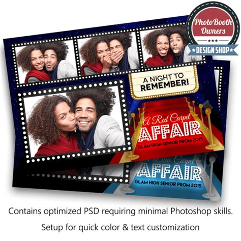 hollywood photo booth layout hollywood red carpet postcard photo booth template