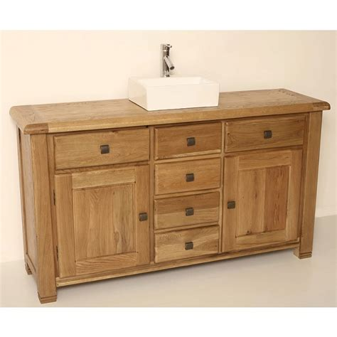 bathroom oak vanity units ohio large rustic oak bathroom vanity unit click oak
