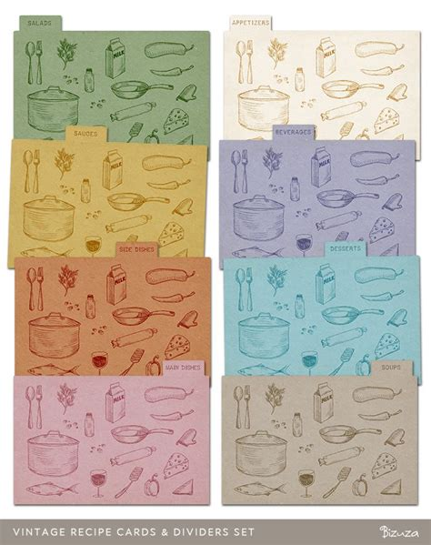 printable greeting card dividers 17 best images about vintage recipe card s on pinterest