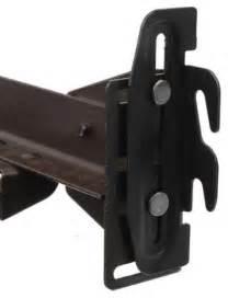 Bed Frame Hook Plates 4 Hook Plate Conversion Adapter Kit For Using Bolt On Frame W Hook On Headboard Ebay