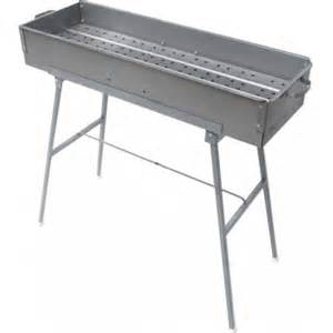 Backyard Grills Reviews Stainless Kebab Grill With Folding Stand