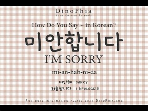 how do you say in 미안합니다 i am sorry korean how do you say in korean