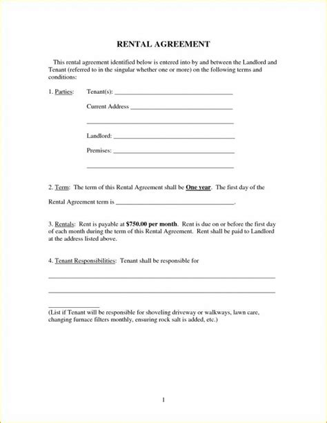 Basic Rental Agreement Template Template Business General Rental Agreement Template