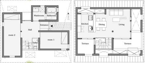 japanese house floor plan houseaa in nara city features a roof designed for privacy