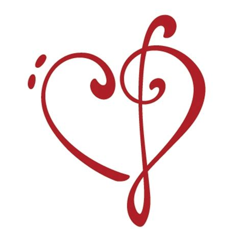 bass and treble clef heart tattoo clipart best