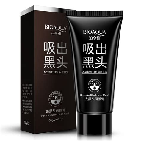 Bioaqua Mask bioaqua activated carbon remove blackhead mask acne treatment peel mask shrinking