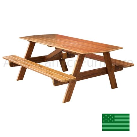 wood picnic table unfinished wood furniture furniture design ideas