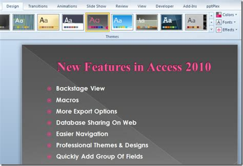 changing themes powerpoint 2010 powerpoint 2010 quickly change color of applied theme