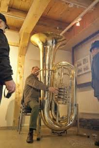 Player Benches Instrument Stand For A Very Big Tuba