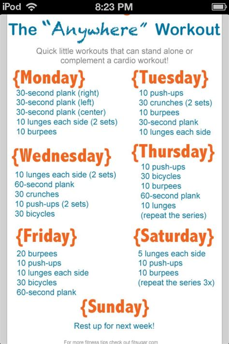 at home work out plan go after your goal to exercise more here s how weekly