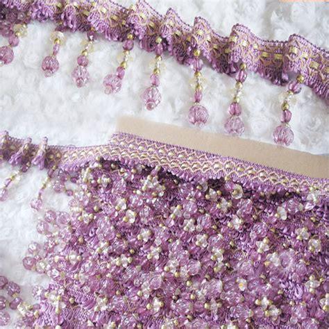 curtain trim tassel fringe 8 5width 12meters lot braided tassel fringe trim crystal