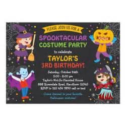 birthday invitation costume card zazzle