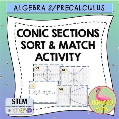 conic sections review 17 best images about activity task algebra activities
