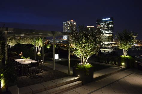 Landscape Lighting On Roof Baltimore Roof Top Terrace Modern Deck Baltimore